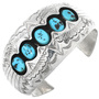 Old Pawn Turquoise Shadowbox Bracelet 32355