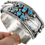 Sterling Silver Bear Claw Silver Turquoise Bracelet 32366