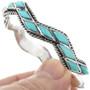 Turquoise Inlay Cuff Bracelet 32372