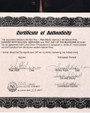 Wes Studi Autograph Certificate of Authenticity 32403
