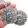 Chief Headdress Sterling Sterling Silver Pendant 32428