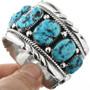 Kingman Turquoise Sterling Silver Cuff Bracelet 32532