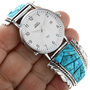 Inlaid Sleeping Beauty Turquoise Watch 32553