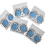 Southwestern Denim Lapis Earrings 32574