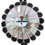 Old Pawn Zuni Sunface Bolo Tie 32583