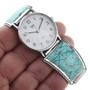 Sterling Silver Turquoise Native American Watch 32585