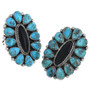Blue Turquoise Navajo Made Ring 32607