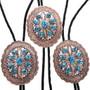 Turquoise Navajo Concho Copper Bolo Ties 32665