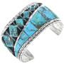 Vintage Inlaid Turquoise Bracelet 32671