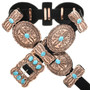 Navajo Turquoise Copper Concho Belt 32678