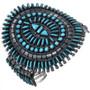 Old Pawn Zuni Needlepoint Turquoise Bracelet 32805