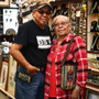 Navajo Artist Thomas Begay and his Wife Ilene 32827