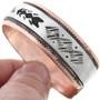 Native American Silver Copper Bracelet 32838