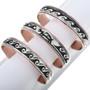 Silver Copper Navajo Overlay Bracelet 32843