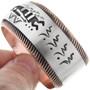 Navajo Overlay Copper Bracelet 32855