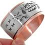 Hand Made Navajo Bear Paw Cuff Bracelet 32859