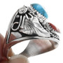 Sterling Silver Turquoise Western Ring 32865