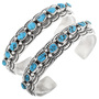 Blue Turquoise Nugget Bracelet 32866