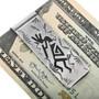 Navajo Silver Overlay Money Clip 32870