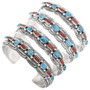 Sterling Silver Turquoise Native American Bracelet 32871