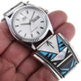Zuni Turquoise Sterling Silver Watch 32960