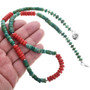 Turquoise Heishi Bead Necklace 32965