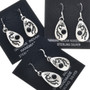 Navajo Genevieve Francisco Silver Kokopelli Earrings 33025