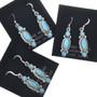 Sterling Silver Opal Native American Earrings 33038