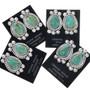 Navajo Turquoise Teardrop Earrings 33040