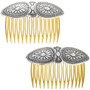 Traditional Silver Pattern Hair Comb 33051