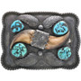 Turquoise Bear Claw Buckle 33059