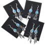 Turquoise Teardrop French Hook Earrings 33072