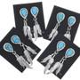 Turquoise Teardrop Silver Post Earrings 33085