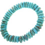 Genuine Turquoise Bead Stretch Bracelet 33088
