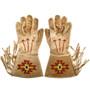 Vintage Flathead Indian Beaded Gauntlet Gloves 33091