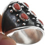 Navajo Coral Sterling Silver Ring 33115