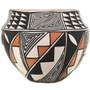 Hand Painted Polychrome Acoma Bowl 33127