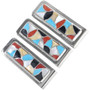 Turquoise Coral Shell Inlay Money Clip 33141