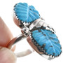 Zuni Sterling Silver Turquoise Ring 33152