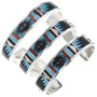 Turquoise Coral Shell Zuni Bracelet 33157