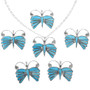Native American Turquoise Butterfly Pendants 33180