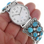 Sleeping Beauty Turquoise Sterling Silver Watch 33207