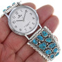 Native American Turquoise Mens Watch 33217