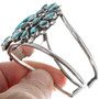 Navajo Turquoise Cluster Cuff Bracelet 33246