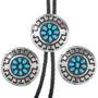 Navajo Hand Made Turquoise Bolo Designs 24839