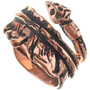 Navajo Copper Feather Ring 33285