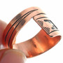 Native American Copper Bypass Ring 33291