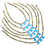 Turquoise Coral Serpentine Necklace 33303