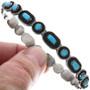 Vintage 1950s Zuni Turquoise Bracelet 33307