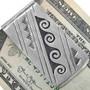 Navajo Silver Overlay Money Clip 33311